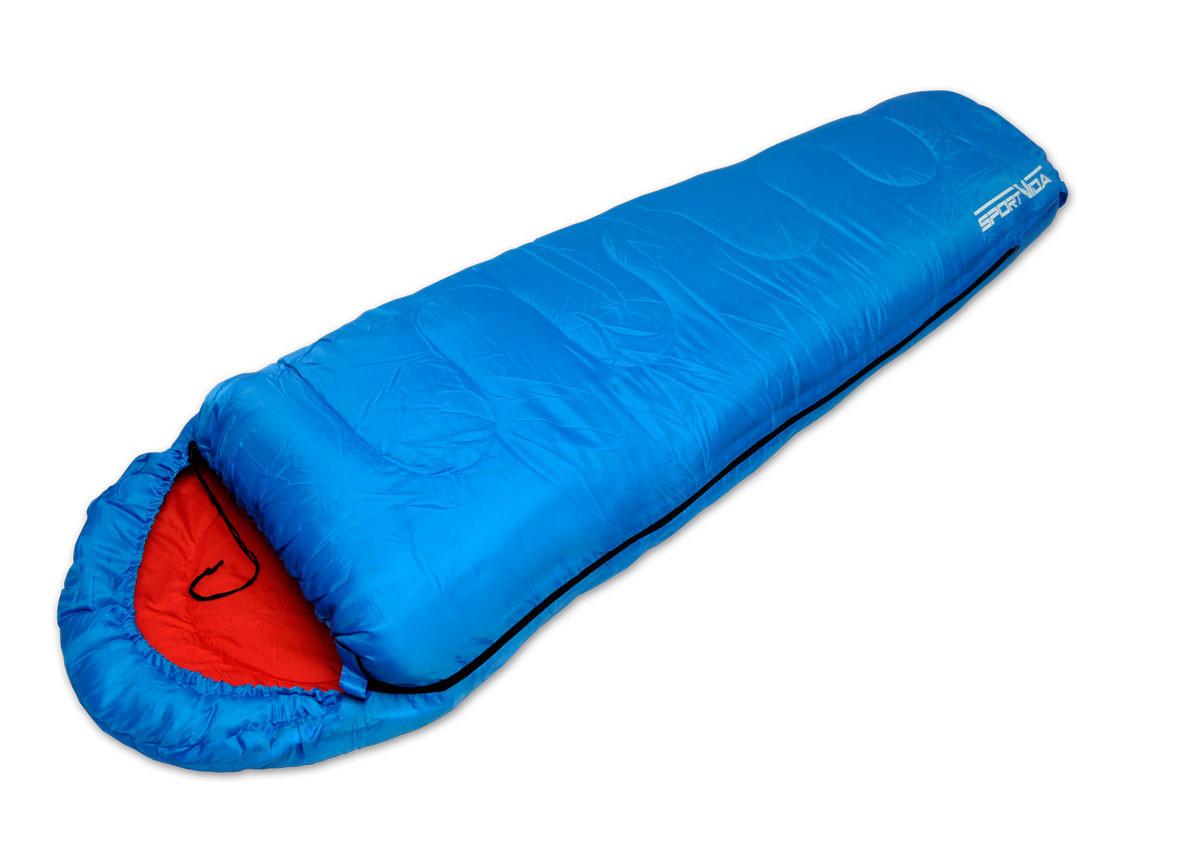Спальный мешок-кокон для походов SportVida, темп. режим до 0°C, цвет - синий