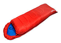 Туристический cпальный мешок SportVida, темп. режим до -3 °C, цвет- красный, фото 1