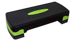 Степ-платформа 2-ступенчатая SportVida для фитнеса и степ-аэробики, тренировок и похудения