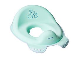 Накладка на унитаз Tega Little Bunnies KR-002 нескользящая 105 light green