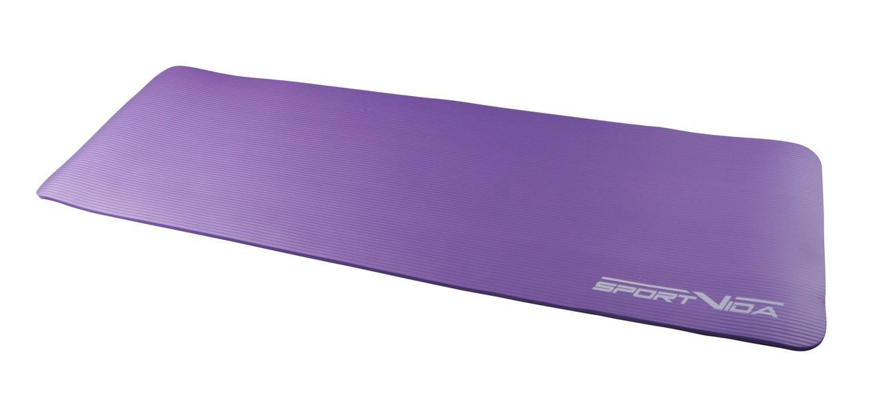 Коврик для фитнеса, пилатеса, йоги и тренировок SportVida NBR 180*60*1 см Violet
