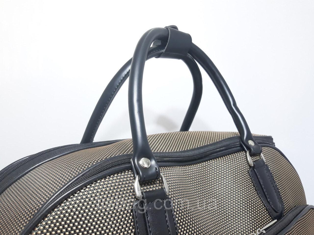 89d6d2cbc478 ... Сумка на колесах тканевая большая XL Коричневая (59*31*38) чемодан  дорожная ...