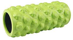 Валик-ролик Grid Yoga Roller 33*13 см массажный рельефный (ребристый) для самомассажа и йоги