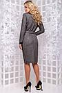 Женское деловое платье серое, размеры от 44 до 52, ангора с люрексом, повседневное, классическое, фото 5