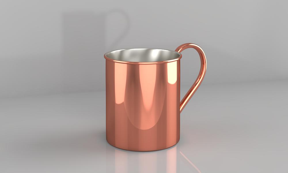 Чашка медная 400мл ZH