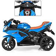 Мотоцикл детский M 3912EL-4, синий Гарантия качества Быстрая доставка, фото 4