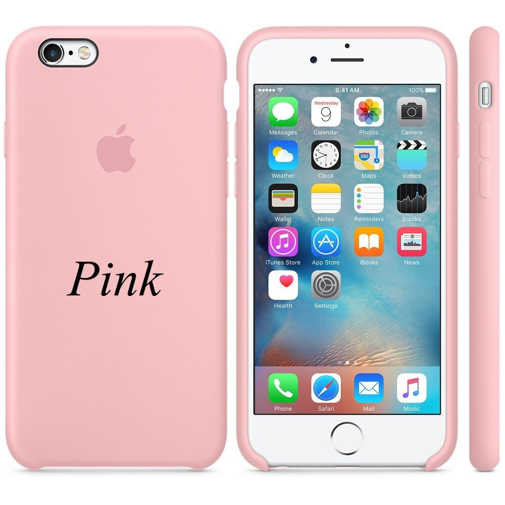 "Apple silicon case iPhone 6,6s  "" Pink """