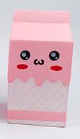 "Антистресс игрушка Сквиши ""Пакет Молока"" (Squishy), розовый"