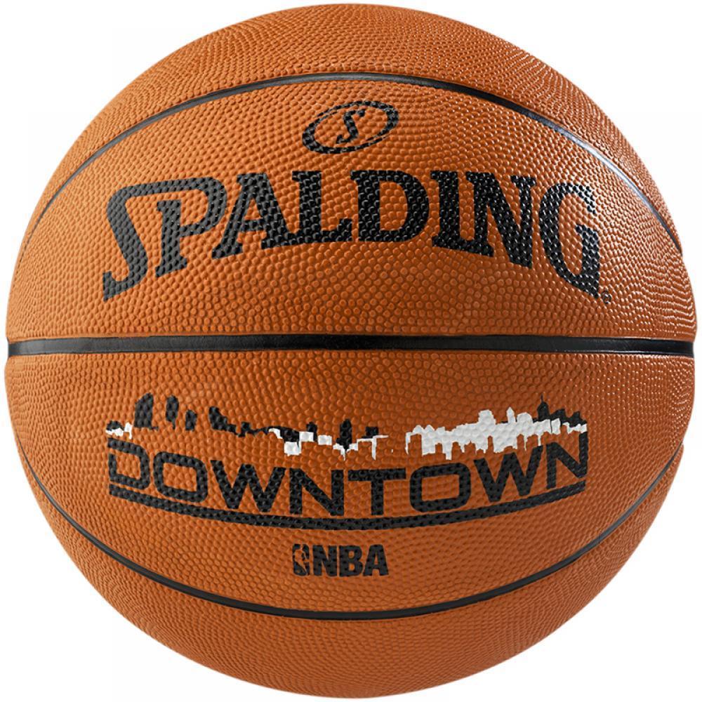 Мяч баскетбольный Spalding Downtown размер 7 резиновый для игры на улице коричневый