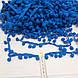 Тесьма с помпонами синего цвета (10 мм), фото 2