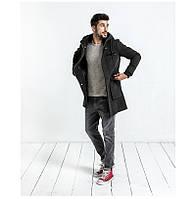 Кашемировое  молодежное пальто с капюшоном, карго карманы осень-зима, фото 1