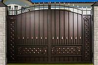 Въездные распашные ворота, код: К-0114