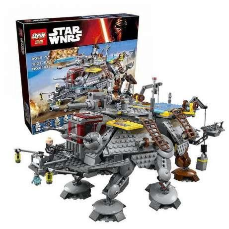 Конструктор Lepin 05032 Star Wars Шагающий штурмовой вездеход AT-TE капитана Рекса, 1022 детали, (аналог Лего