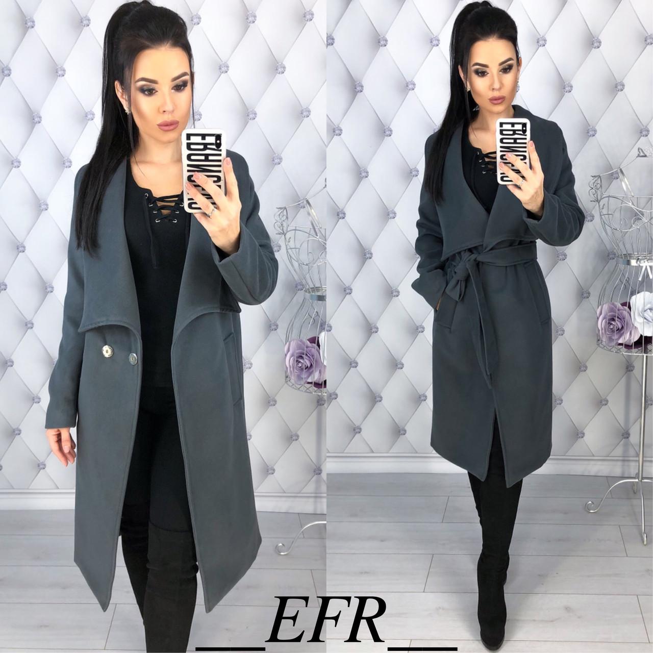 6483fb4ca0c Женское пальто на кнопках с поясом - Магазин женской одежды и аксессуаров в  Украине - Annika