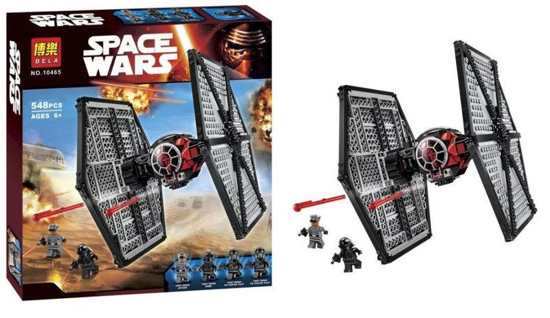Конструктор Bela 10465 Star Wars TIE Истребитель особых войск Первого Ордена 548 деталей,
