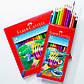 Карандаши акварельные Faber-Castell 12 цветов в картонной коробке + кисточка, 114413, фото 5