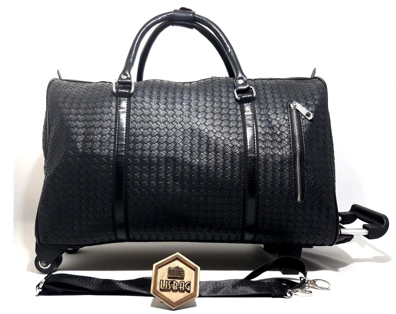 1afd96dbc70d ... Сумка на колесах Средняя Черная (50*20*34) чемодан дорожная сумка  валіза ...