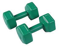 Гантели виниловые для фитнеса и спорта SportVida 2 x 2 кг