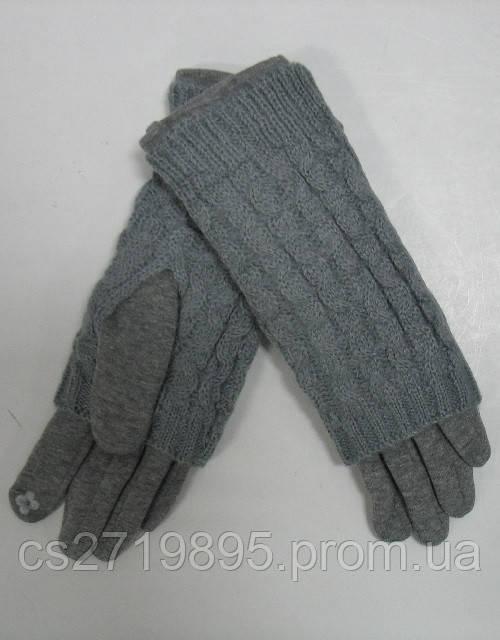 Перчатки женские КОРОЛЕВА 66 мех вязанный верх
