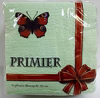 Салфетка бумажная премьер 33*33 50л зеленая