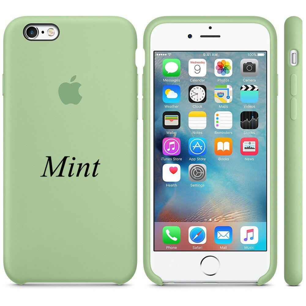 "Apple silicon case iPhone 6,6s  "" Mint """