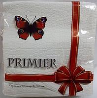 Салфетка бумажная премьер 33*33 50л белая