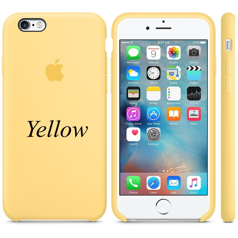 "Apple silicon case iPhone 6,6s  "" Yellow """