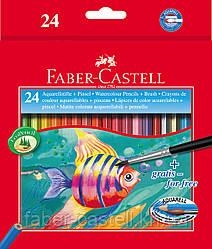 Карандаши акварельные  Faber-Castell 24 цвета в картонной коробке, 114425