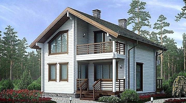 Дом из профилированного клееного бруса 8х8 м