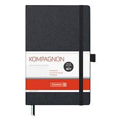 Книга записная А5 Brunnen Компаньон, клетка, черная
