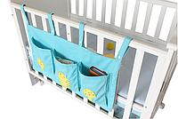 Органайзер на детскую кроватку Большой Голубой