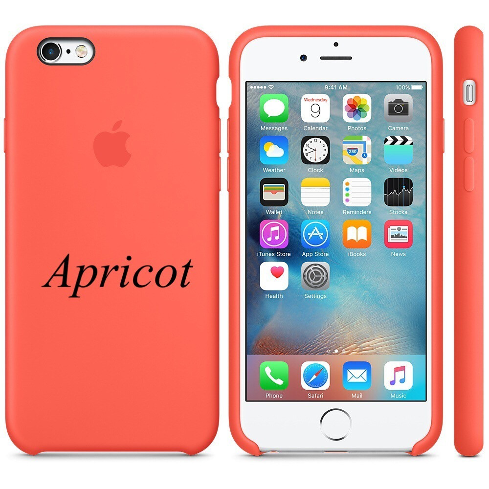 "Apple silicon case iPhone 6,6s  "" Apricot """