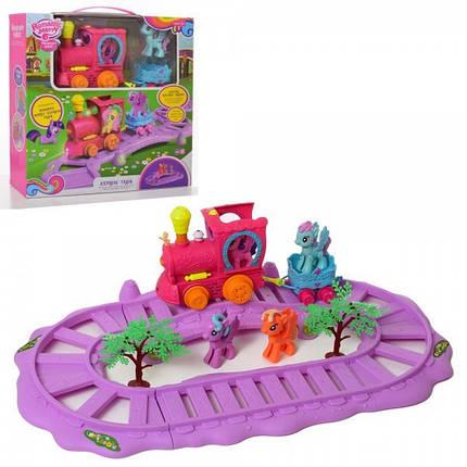 """Игровой набор Железная дорога - Поезд Литл Пони """"my Litle Pony"""" арт. 88360, фото 2"""