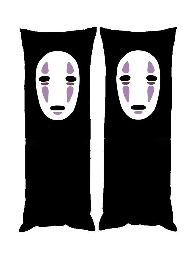 Дакимакура Безликий Унесённые призраками 40*100 см со съёмной наволочкой