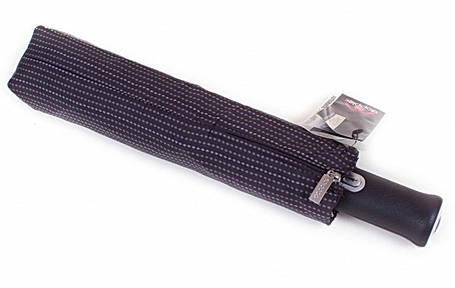 ЗОНТ шкіряна ручка 743067 Doppler Сіра смужка, фото 2