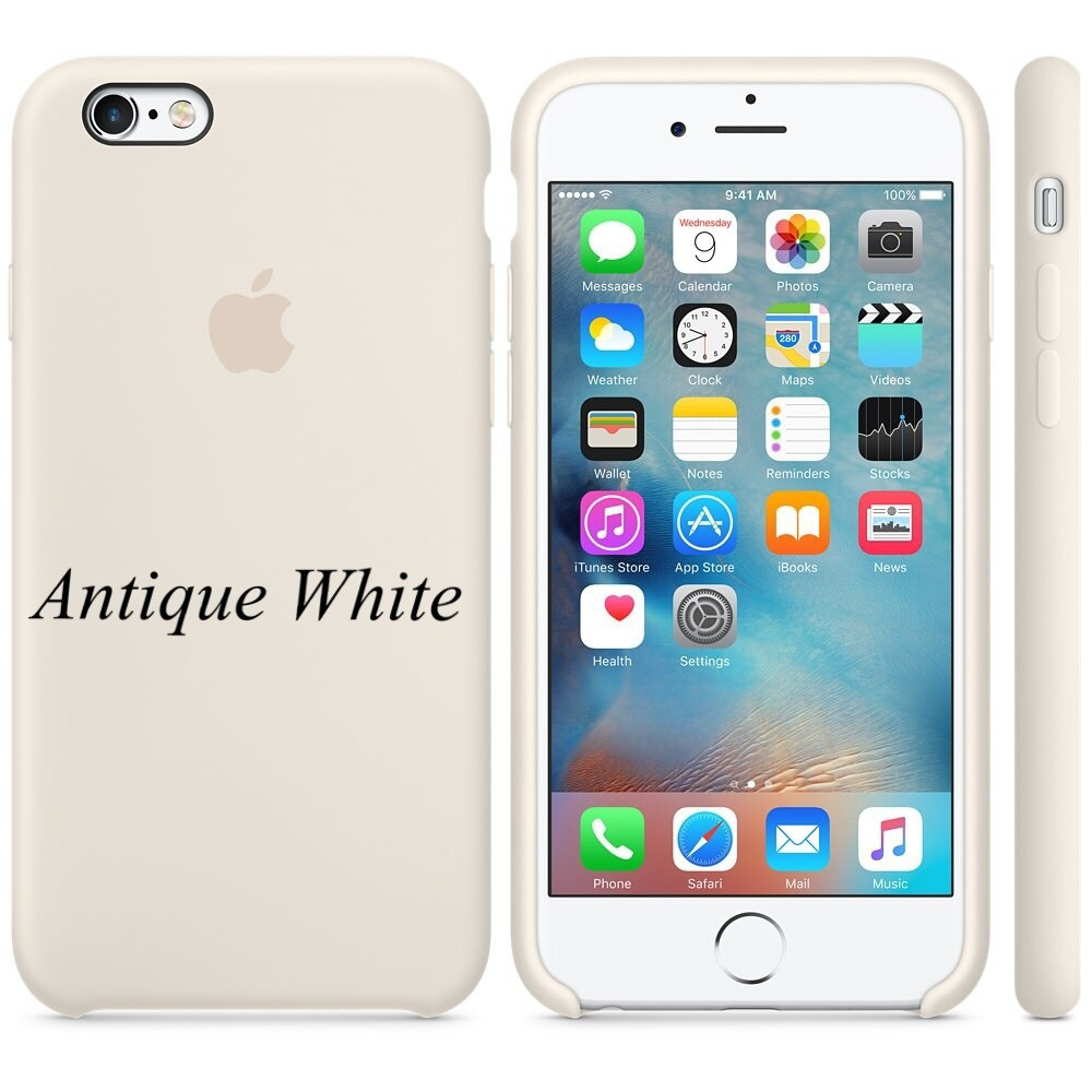 "Apple silicon case iPhone 6,6s  "" Antique White"""