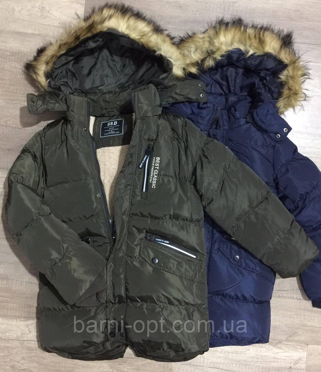 Куртки зимові для хлопчика оптом, S&D, рр 134-164