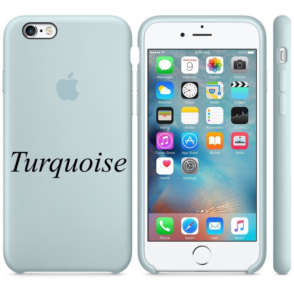 "Apple silicon case iPhone 6,6s  "" Turquoise"""