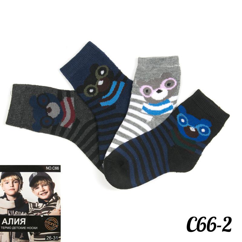 Носки детские махровые полосатые на мальчика Медвежонок Алия C66-2