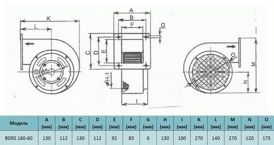 razmer Bahcivan BDRS 160 60