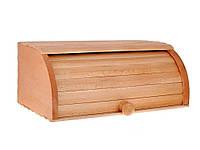 Хлібниця деревяна велика на рейках