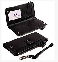 Женский кошелек из натуральной кожи  ST420 New Black , фото 1