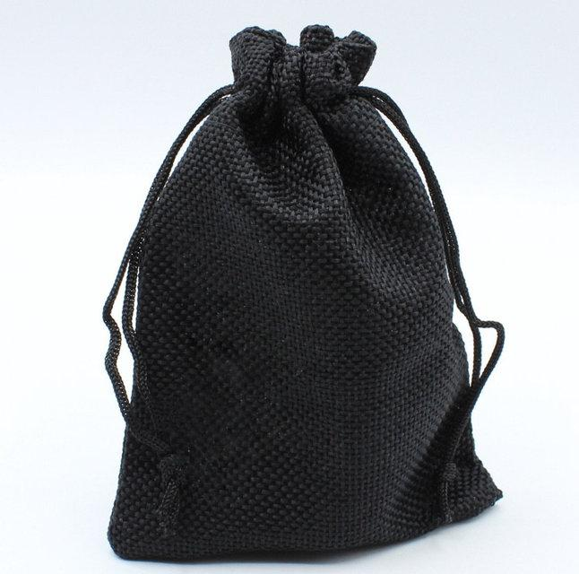 """Мешочек подарочный """"Ткань чёрный однотонный 13 х 17 см"""""""