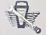 Набор ключей рожково-накидных  с трещоткой Euro Craft 8 предметов Польша