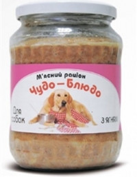 Чудо-блюдо консервы для собак (стекло) Ягненок 720 г