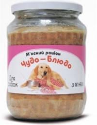 Чудо-блюдо консервы для собак (стекло) Ягненок 720 г, фото 2