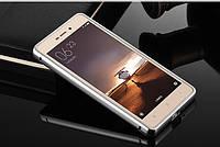 Металлический бампер с акриловой вставкой с зеркальным покрытием для Xiaomi Redmi 4X Серебряный
