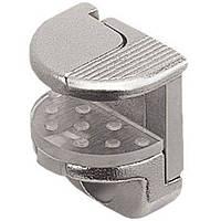 Полкодержатель для стекла с защелкой-фиксатором для отверстий d 3/5 мм