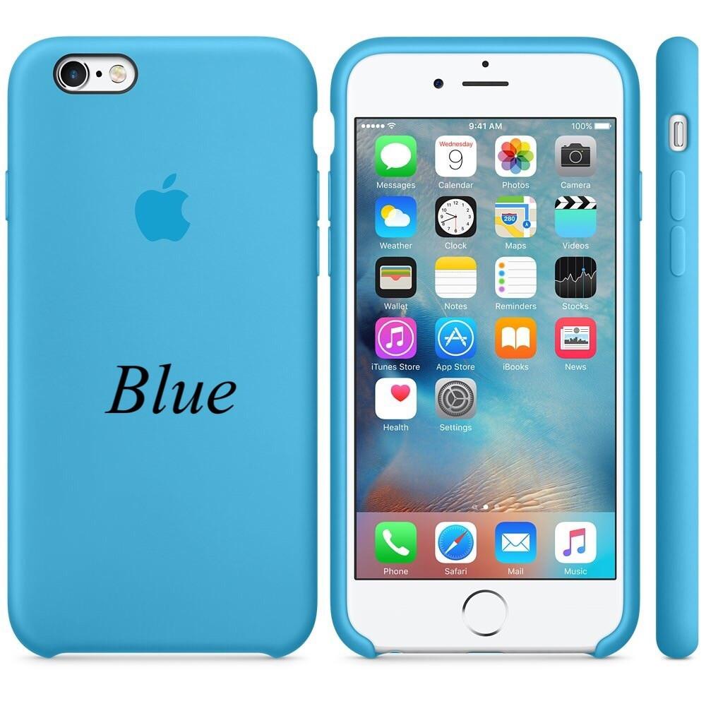 "Apple silicon case iPhone 6,6s Plus "" Blue"""
