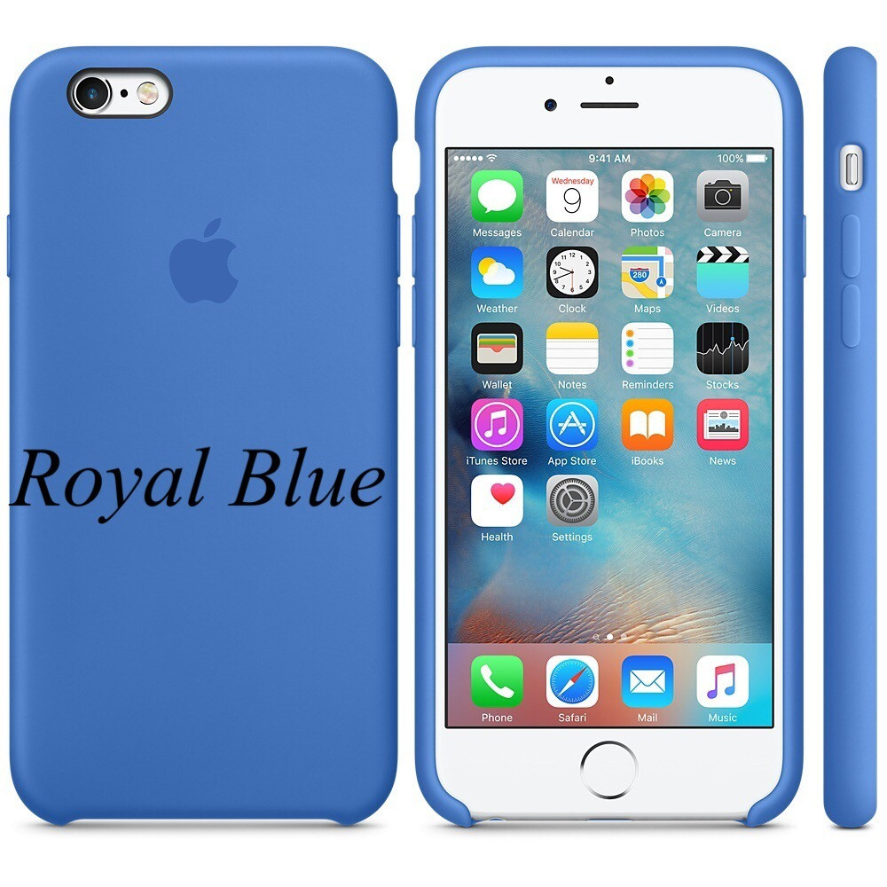 "Apple silicon case iPhone 6,6s Plus "" Royal Blue """